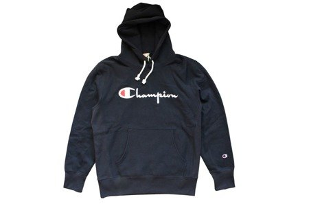 Champion Bluza Reverse Weave Big Logo Hooded Sweatshirt Navy - FW18