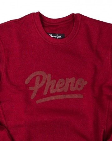 PHENOTYPE Bluza Maroon Tonal Pheno Crewneck