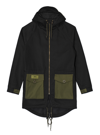 TURBOKOLOR Parka Light - Black/Green - FW16