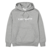 Carhartt Bluza Hooded Carhartt Sweatshirt Grey Heather/White - FW18