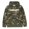 Carhartt Bluza Hooded College Sweatshirt Camo Laurel/White - FW18