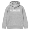 Carhartt Bluza Hooded College Sweatshirt Grey Heather/White - SS18